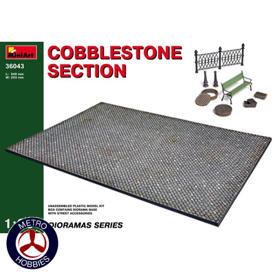 Miniart 1/35 Cobblestone Section-Discontinued 36043 Brand New