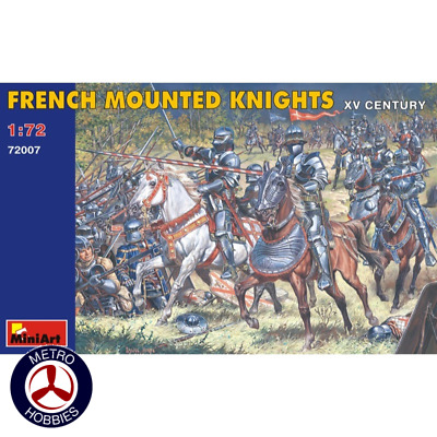 Miniart 1/72 French Mounted Knights 72007 Brand New