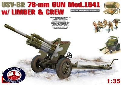 Miniart 1/35 USV-BR 76mm Gun Mod 1941 with limber and crew 35129 Brand New