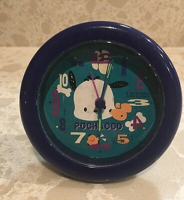 Vintage 1996 Pochacco Mini Desk Clock Rare