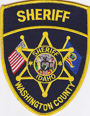IDAHO Washington County Sheriff patch, crossed flags