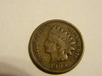 1903 Indian Head Cent ------Lot #2,509