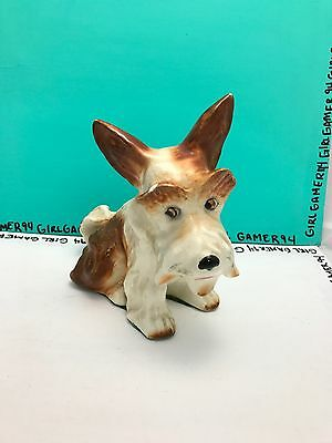 Vintage Scottish Sylvac C Terrier Dog #1295 - Porcelain Animal - Made in England