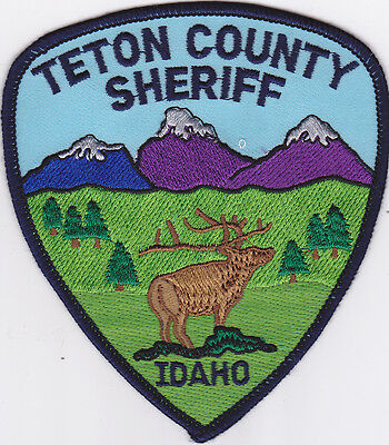 IDAHO Teton County Sheriff patch, elk, mountains