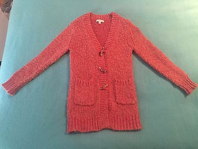 Witchery kids girls knitted pink cardigan. size 7