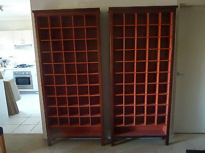 CD STORAGE CABINETS x 2 : WILKINS & KENT