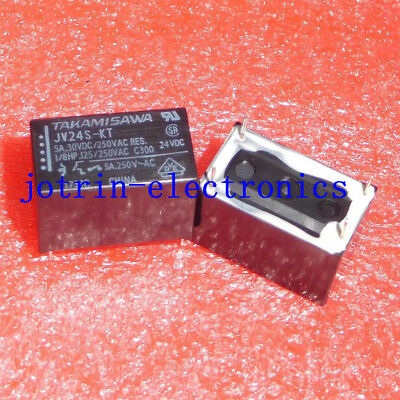 JV24S-KT DIP-4 Electromechanical Relay 24VDC 2.88KOhm 5A SPST-NO Power Relay