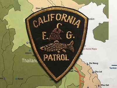California Fish and Game Division   Patch , SOLD AS  PICTURED ,  Cali Fish and