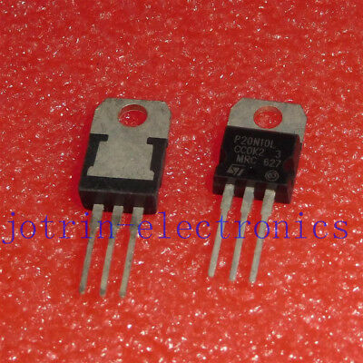 10PCS STP20N10L TO-220 N-Channel Enhancement Mode Low Threshold Power Transistor