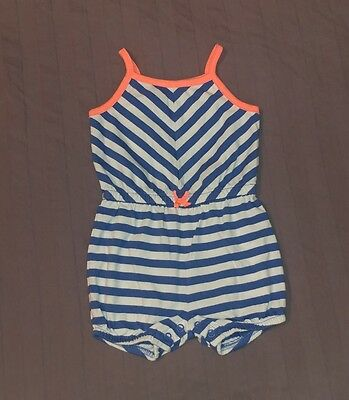 VGUC Carters Baby Girl Clothes 3 Months One Piece Sleeveless Striped Romper