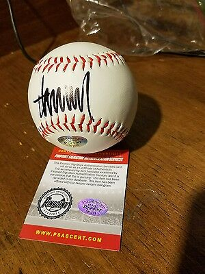 RARE Donald Trump Authentic Signed Baseball Autographed Coa w/ HOLOGRAM