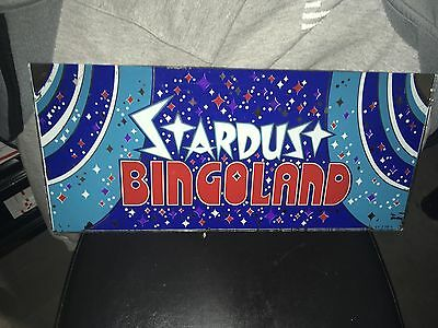 Vintage Stardust Hotel Casino Slot Machine Glass Insert Approximate 17X8