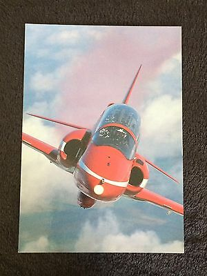 """1998 Royal Air Force, Red Arrows Hawk - """"In Your Face"""" John Dibbs Litho 8"""" x 6"""""""