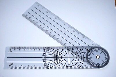 "Brand New 360 Degree Spinal Goniometer Ruler Expands to 14"", US Seller"