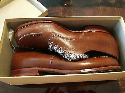 WOW Vintage Brown Leather Shoes 8 1/2 C BRAND NEW 1966