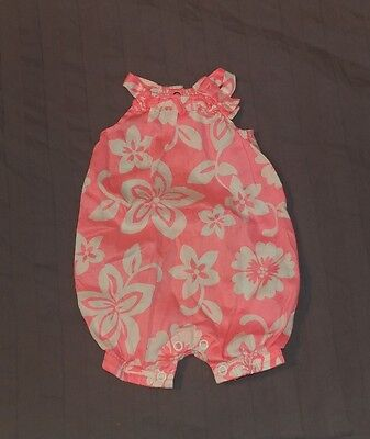 EUC Carters Baby Girl Clothes NB Newborn One Piece Sleeveless Bubble Romper