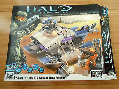 Halo Mega Blocks Covenant Brute Prowler 96869 - Complete Set