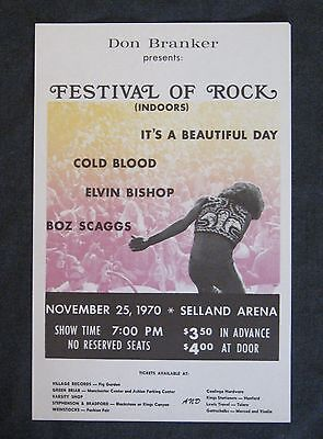 RARE Vintage 1970 Concert Handbill It's A Beautiful Day Cold Blood Fresno EXC!