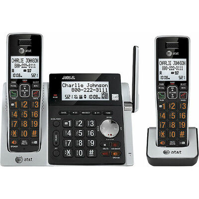AT&T CL83213 2 Handset DECT 6.0 Expandable Cordless Phone with Answering System