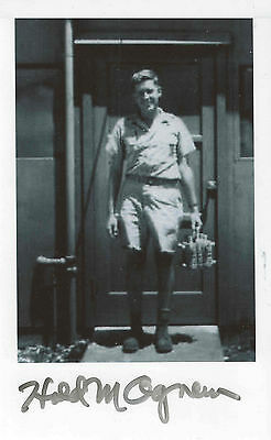 Harold Agnew Signed Classified Photo w/ Nuclear Core, Manhattan, Atomic, WWII