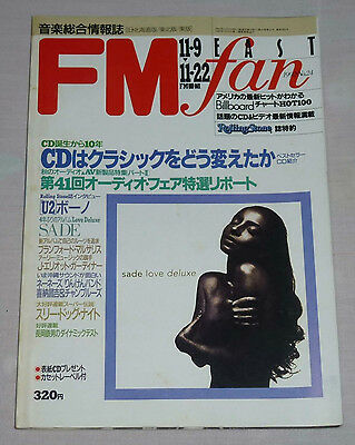 FM fan Japan Magazine 1992 No.24 ! SADE Kylie Minogue U2 THREE DOG NIGHT