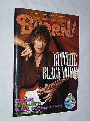 BURRN! Japan magazine book 3/2006 ! BLACKMORE Rainbow IRON MAIDEN DEEP PURPLE