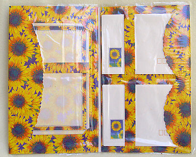 Sunflower writing set (note paper and envelopes)