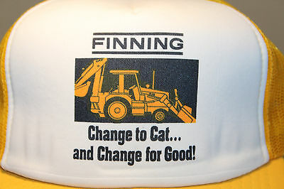 Finning Cat Caterpillar Cap Hat Vintage Snapback Size Adjustable
