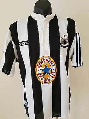 Newcastle United Jersey Large Newcastle Brown Ale 1995-97 Football Soccer Shirt