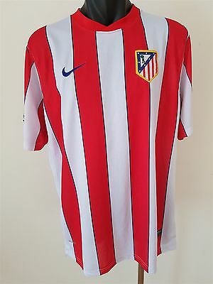 Atletico Madrid Football Club Jersey Shirt 2011/2012 SIZE XL Nike Soccer