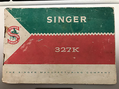 GERMAN VERSION of Singer 327K Sewing Machine Instruction Manual and User Guide