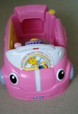 fisher price laugh and learn pink car