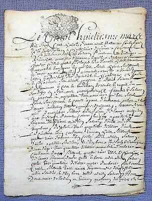 1708 Official notarial document of Brittany ( Bretagne ) France