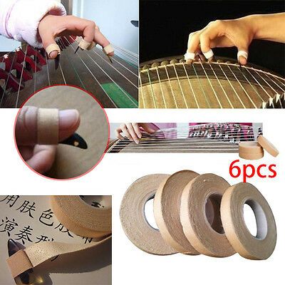 6Rolls Adhesive Tape 1cm Width Finger Picks Adhesive Tape For Chinese Guzheng