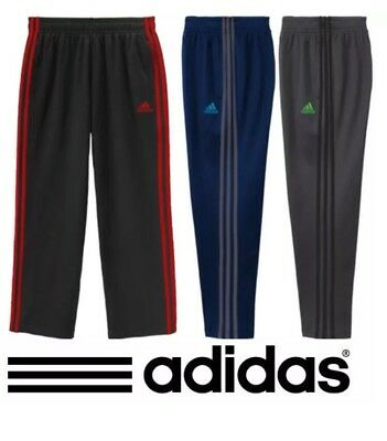 Boy's adidas Athletic Pant Fleece-Lined Color Stripes Polyester