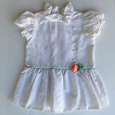 GORGEOUS Vintage White Floral Toddler Girls Size 3/4T Dress Tunic