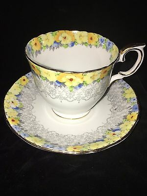 Crown Staffordshire Tea Cup & Saucer Rare. Exquisite