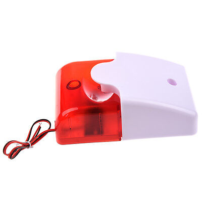 12V Wired Sound Alarm Strobe Flashing Light Siren Home Security System H2G6