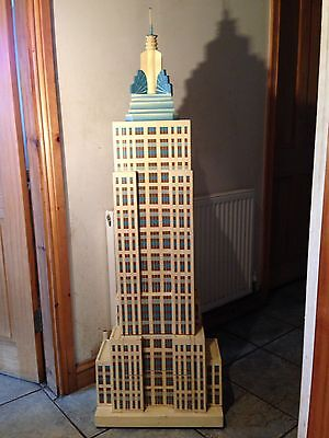 Empire State  Building Vintage storage cabinet solid wood 21KG weight