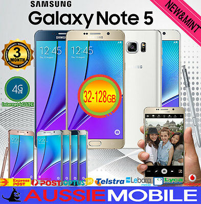 New & Used Genuine Samsung Galaxy Note 5 32Gb 64Gb 4Glte Unlocked Au Warranty