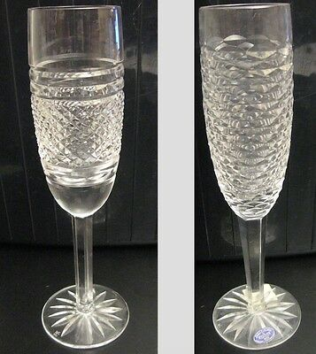 2 Vintage/Mid-Century Tipperary Cut Crystal (Ireland) Champagne Flutes, Ornate!