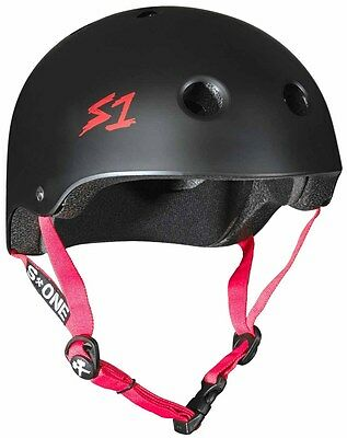 S One - Lifer Helmet Black Matte/Red Strap