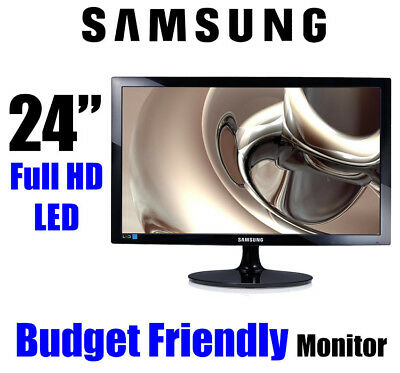 "Samsung 23.6"" LS24D300HLR Full HD LED Monitor 16:9 1080P 5ms HDMI VGA 3Yrs"
