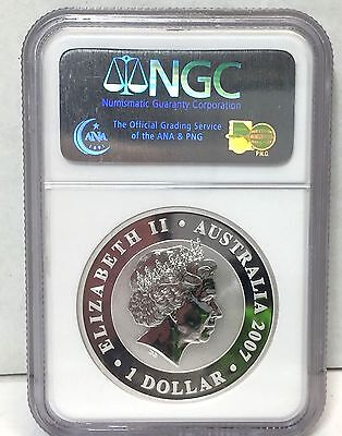 NGS MS6 First Year Issue 2007 Australia  Koala , 1 Oz .999 Silver , NGC MS69
