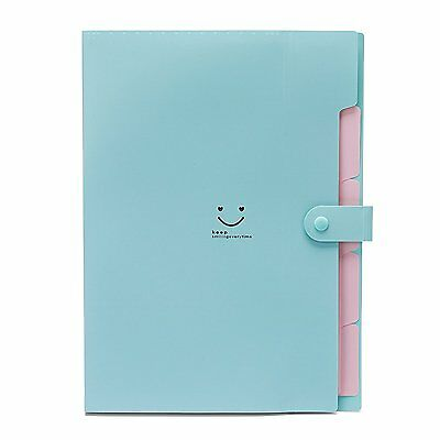 Expandable Portable Hand-Held Accordion File Document Folder Cute Smiling Face 5
