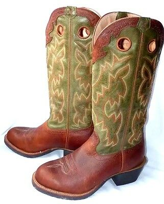NEW Twisted X Mens Buckaroo Western Boots Cowboy Boots built for riders UK 10 EE