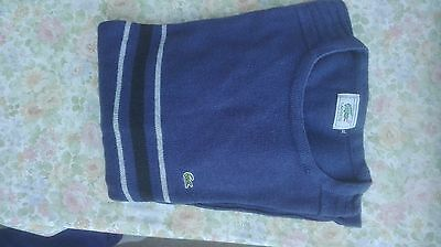 pull lacoste bleu taille M