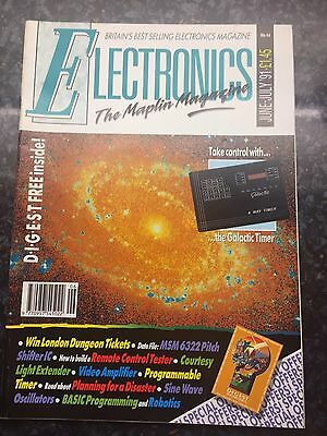 Electronics The Maplin Magazine. June- July 1991. Collectible