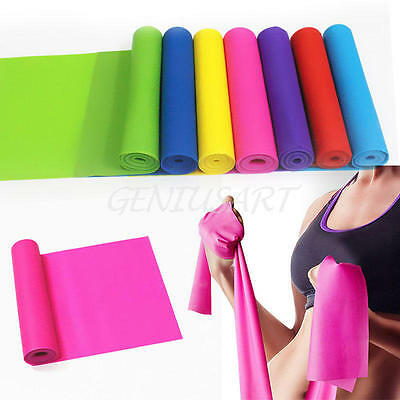 1.2m Yoga Pilates Latex Stretch Strap Training Belt Arm Leg Fitness Exercise Gym