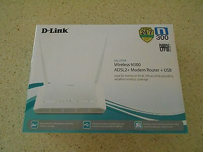 WIRELESS N300 ADSL2+ MODEM ROUTER+USB by D-LINK